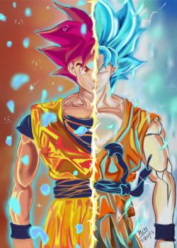 Ssgss Goku Remastered by mcharrison38214