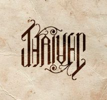 THRIVEN ambigram by sidnei-siqueira