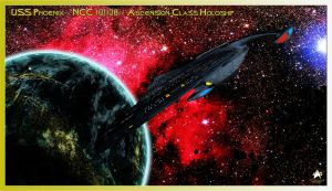 USS Phoenix - NCC 101138 Ascension Class Holoship by MotoTsume
