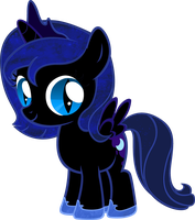 Nightmare Moon Filly, reptile eyes by BC-Programming