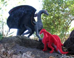 Felt Dragons by Segreant