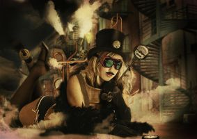 Steampunk girl by jackodeco