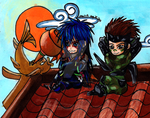 Ninjas on a Roof by SpiritLullaby