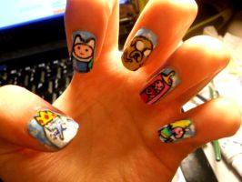 Adventure Time Nails! by marissa287