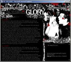For The Glory official website by screaminsilence