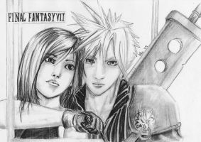 Tifa and Cloud by R-ico