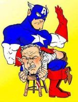 Bush meets Captain America... by BrazilianBadBoy