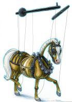 Gustav the Horse Marionette by cricket00fur