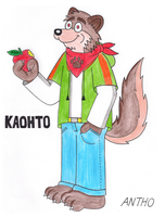 Kaohto loves to eat apples by AnthoFur