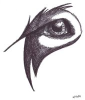 Wolf eye (pen) by Wildefray