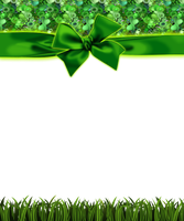 green grass frame with bow png by Melissa-tm