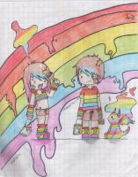 Rainbow kids by FallOutGirlxD