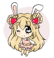 Art trade:bunny by bunnylover11