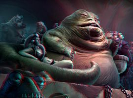 Jabba the Hutt 3-D conversion by MVRamsey
