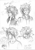 Ryusei expressions 1 by SamSilver-chan92