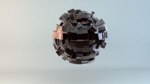 Cuboid Geometry 3D Sphere by cytherina