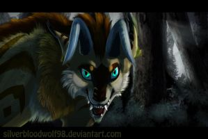 in the darkness :.commission.: by Silverbloodwolf98
