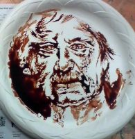 Mark Twain in chocolate syrup by treesquirrel2