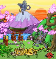 Okami Contest: Sunset by Starbat