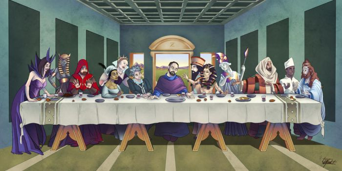 RPOTA Commission: Personalized Last Supper by indigowarrior