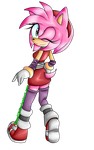 .:Sonic Boom:. Amy Rose by KayeilE