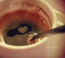 Coffee loves me. by Helliew