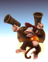 Diddy Kong in action by BW-Straybullet