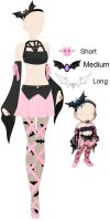 FAIRA outfit ref - Ballerina and bats by Moon-SoulHart