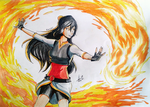 OC Kiara Fire (Traditional Art) by KimiaArt
