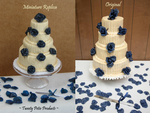 Miniature Wedding Cake Replica by birdielover