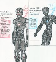 Iron Man OS: Mark 88+220-Bouncer and Switchback by Mystic2760