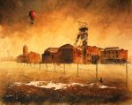 An industrial landscape with cat II by sanderus