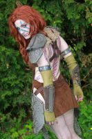 Aela the Huntress Cosplay (back) by AlliApocalips