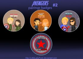 +A: Pairings Badges #2 by LittleLadyPunk