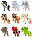 Pony Auction [OPEN 1/9]~ themed adopts by SuperFancyAdopts