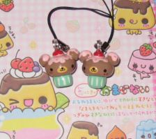 Bear Cupcake charms by kneazlegurl125