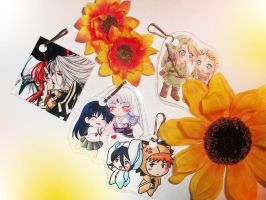 .:Sesskag,ichiruki and more keychains:. by Nardhwen
