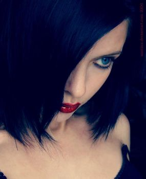 something about the red lips by Santina