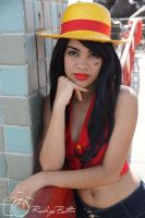 Monkey D. Luffy- One Piece by amandaamr
