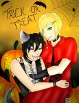 Trick or treat by bleding-rose