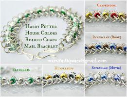 Harry Potter House Colors Chain Mail Bracelet by maryfaithpeace