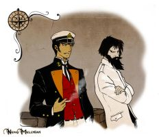 Corto Maltese and Rasputin by NekoMelchiah