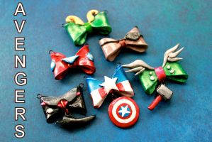 Avengers Bow Charms by GandaKris