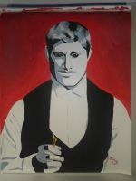 Supernatural Demon Dean Winchester Painting by lizstaley