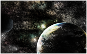 Earth from Distance Wallpaper by PsychOut