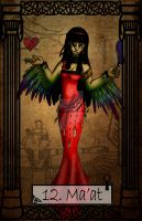 Mythology Tarot Ma'at by TheBlindProphetess