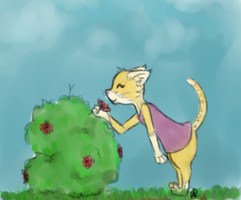Kitty cat doodle by Alisha-town