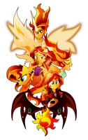 The Many Many Forms of Sunset Shimmer by Ilona-the-Sinister