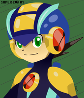 Megaman EXE Portrait by supereva01