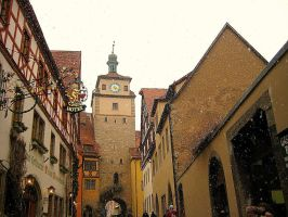 Snowing in Rotenburg by Baron-Von-Coeus